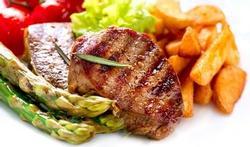 Biefstuk van plantaardige eiwitten