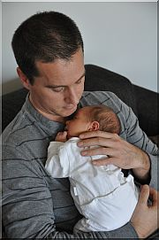 Steve en zoontje Lowie