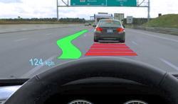 Digitale projecties op voorruit vergroten kans op ongevallen