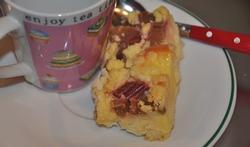Le gâteau à la rhubarbe et aux amandes effilées