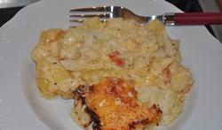 Le gratin de chou-fleur, pommes de terre et chorizo