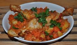 Pilons de poulet aux carottes et poivrons