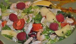 Salade de poulet sucrée - salée