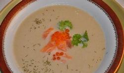 La soupe de chicons au saumon fumé
