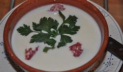 La soupe de chou-fleur au chorizo