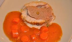 Roulade de dinde sauce à l'orange