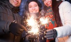 Outdoor eindejaarsfeesten