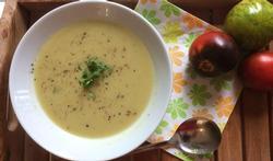 Courgettesoep met mosseljus