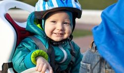 Veilig achter op de fiets