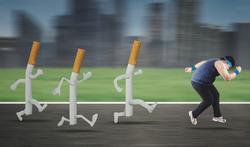 Stoppen met roken: tips om te vermijden dat je aankomt