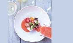 Gazpacho van watermeloen en tomaat