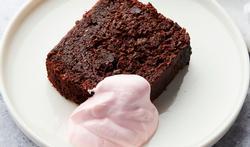 Rodebietenbrownie met donkere chocolade