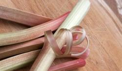 Soupe de rhubarbe à la menthe fraîche
