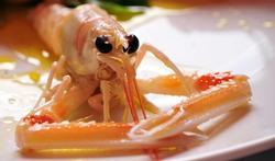 Savoureuse brochette de langoustines