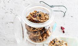 Biscuits à l'avoine et aux canneberges séchées