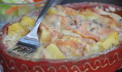 Gratin de pommes de terre au munster