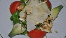 Salade d'artichaut cru au parmesan
