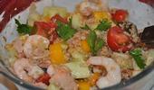 Emietté de thon au quinoa et légumes croquants
