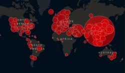 Coronavirus : la carte en temps réel (pays par pays) de l'épidémie dans le monde
