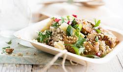 Taboulé fruité de quinoa au poulet